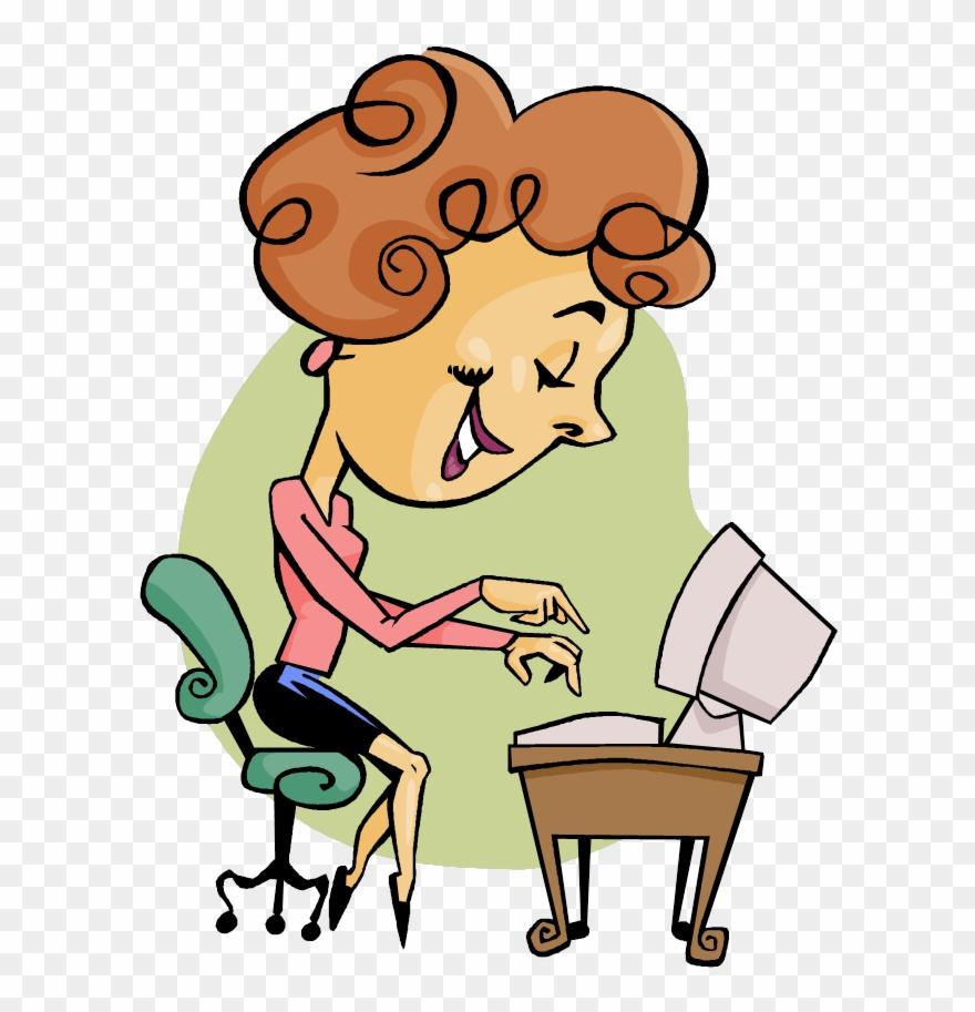 Clipart for secretary jpg A Girl Named Michael - Secretary Clipart - Png Download (#1373789 ... jpg