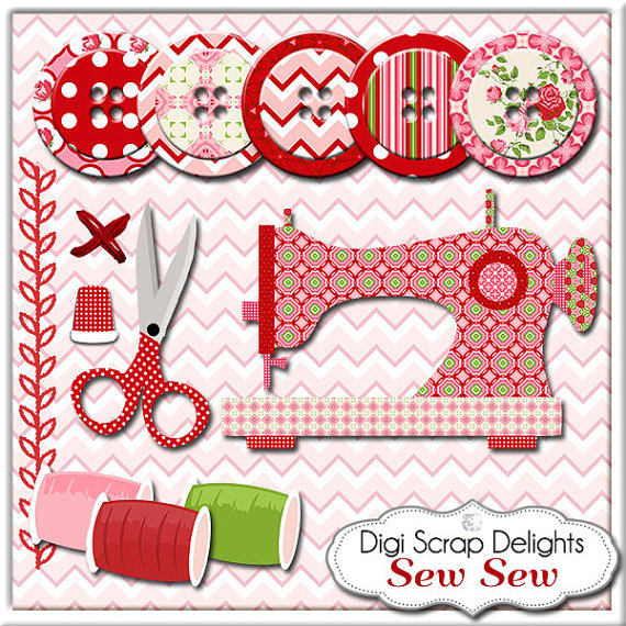 Clipart for sewing patterns.  dollar sale sew