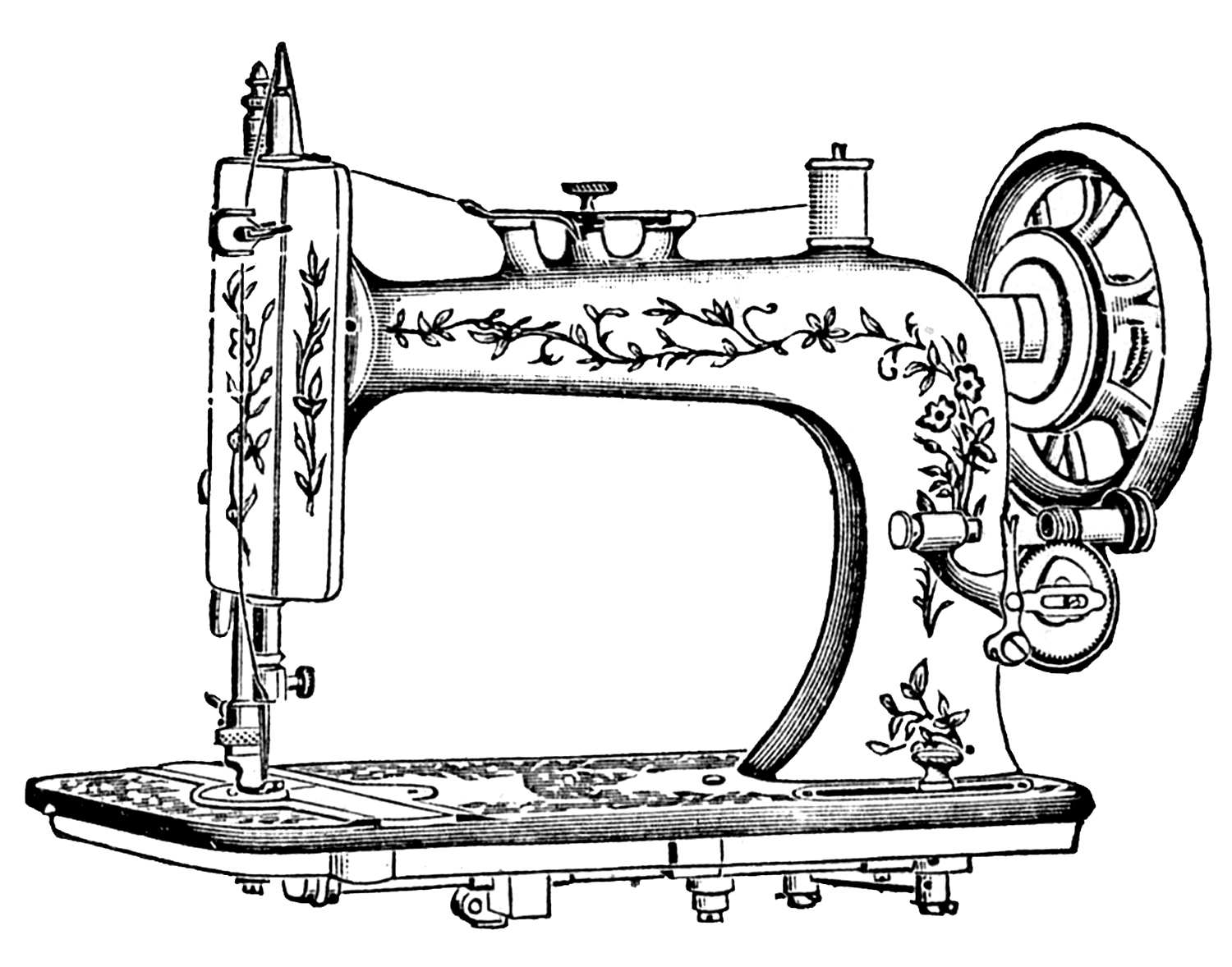 Clipart for sewing patterns picture library library 17 Best Photos of Art Sewing Patterns - Sewing Machine Clip Art ... picture library library