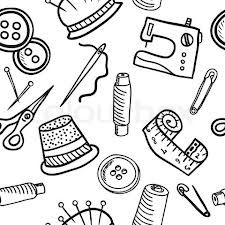 Vector pattern thumb tack. Clipart for sewing patterns