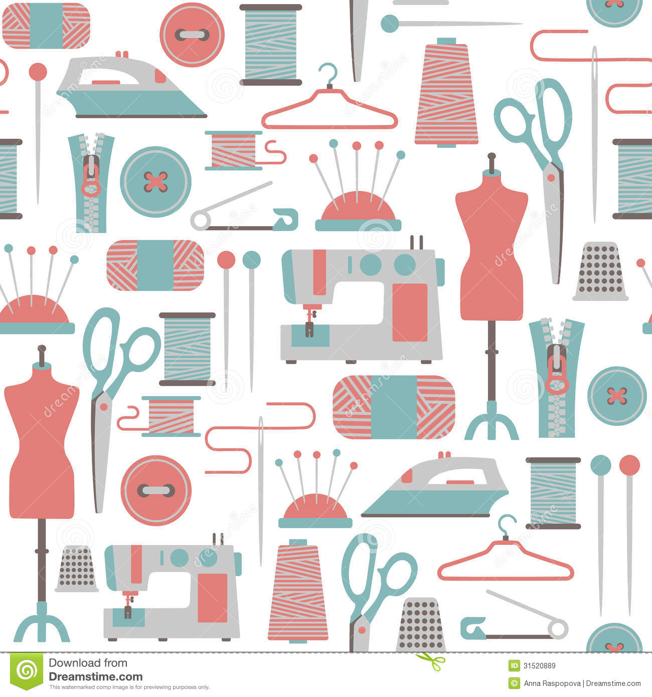Clipartfest pattern. Clipart for sewing patterns