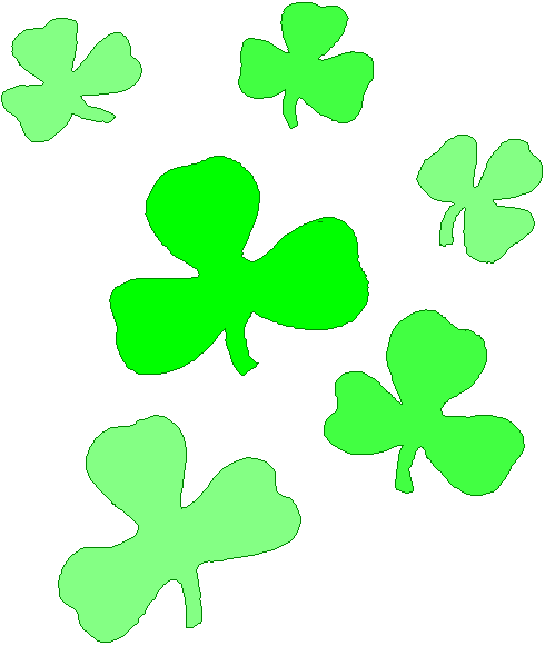 Clipart for shamrocks png black and white Free Shamrock Clipart - Public Domain Holiday/StPatrick clip art ... png black and white