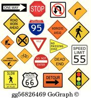 Us 41 signs clipart