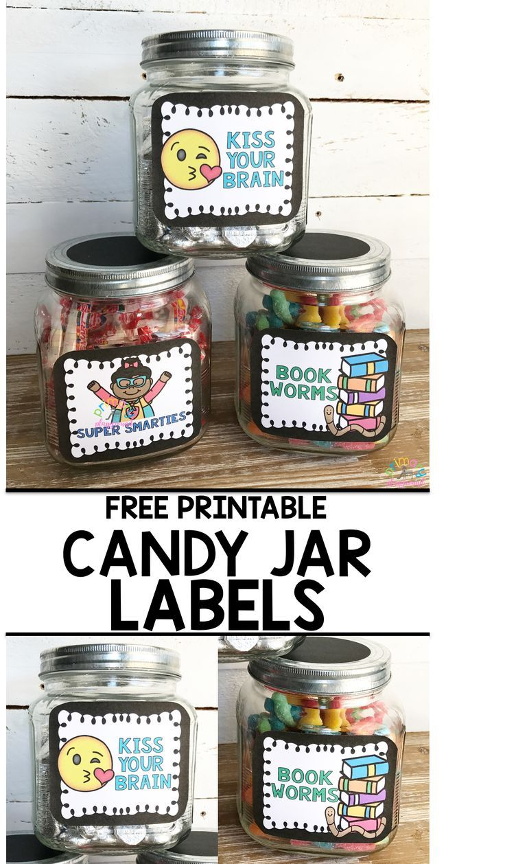 Clipart for smarties candy in a jar clip art freeuse Free Printable Candy Jar Labels   kinder   Candy jar labels ... clip art freeuse