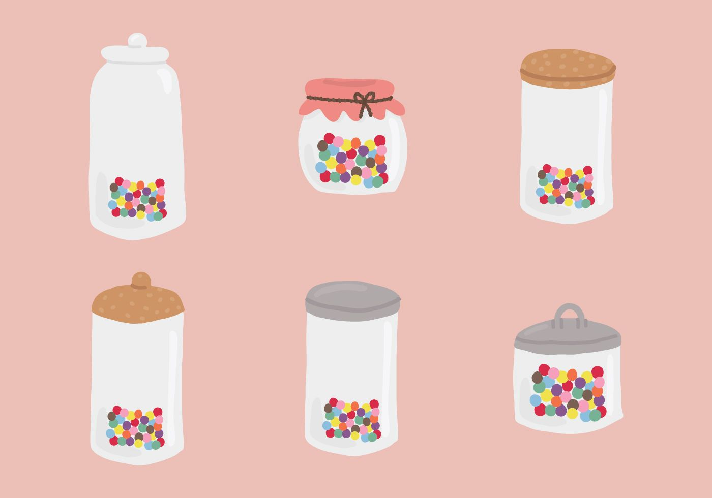 Clipart for smarties candy in a jar clipart royalty free library Vector Jars containing colorful smarties candies.   Flat Vector Art ... clipart royalty free library