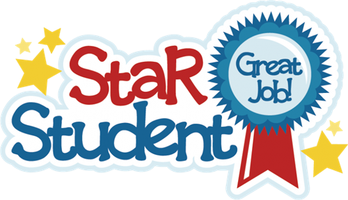 Clipart for student of the month banner stock Chatman, Ms / Star Student for the Month of February banner stock