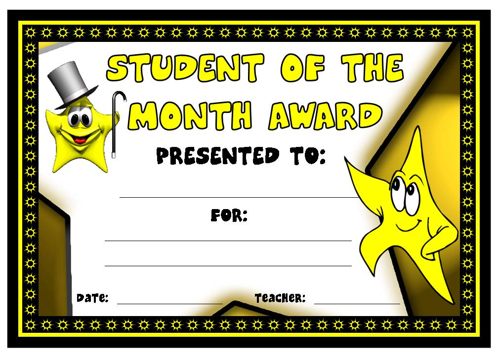 Clipart for student of the month banner stock Student of the Month Award | Other Files | Documents and Forms banner stock