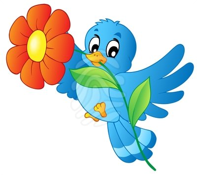 Clipart for summer scenes flowers & birds image black and white Free Bluebird Clipart, Download Free Clip Art, Free Clip Art on ... image black and white