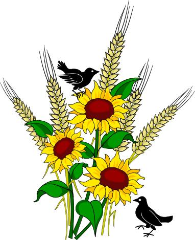Clipart for summer scenes flowers & birds clip art library stock Fall and Autumn Clipart - Seasonal Graphics clip art library stock
