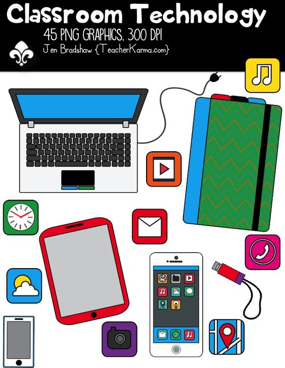 Clipart for teachers commercial use png freeuse download Classroom Technology Clipart ~ Commercial Use OK | Smartphone ... png freeuse download