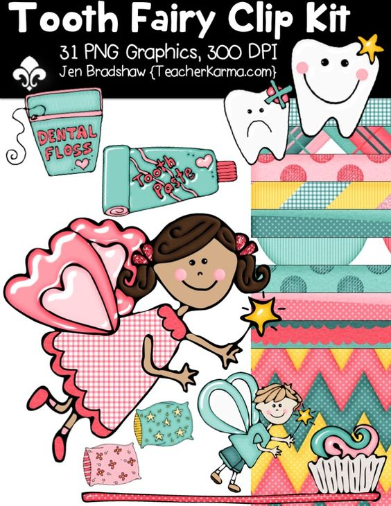 Clipart for teachers commercial use free stock Tooth Fairy Seller's Kit Clipart ~ Commercial Use OK ~ Dental ... free stock