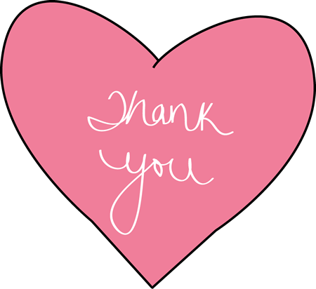 Clipart for thank you for your generoisty picture transparent thank you clip art | Pink Thank You Heart - pink heart with the ... picture transparent