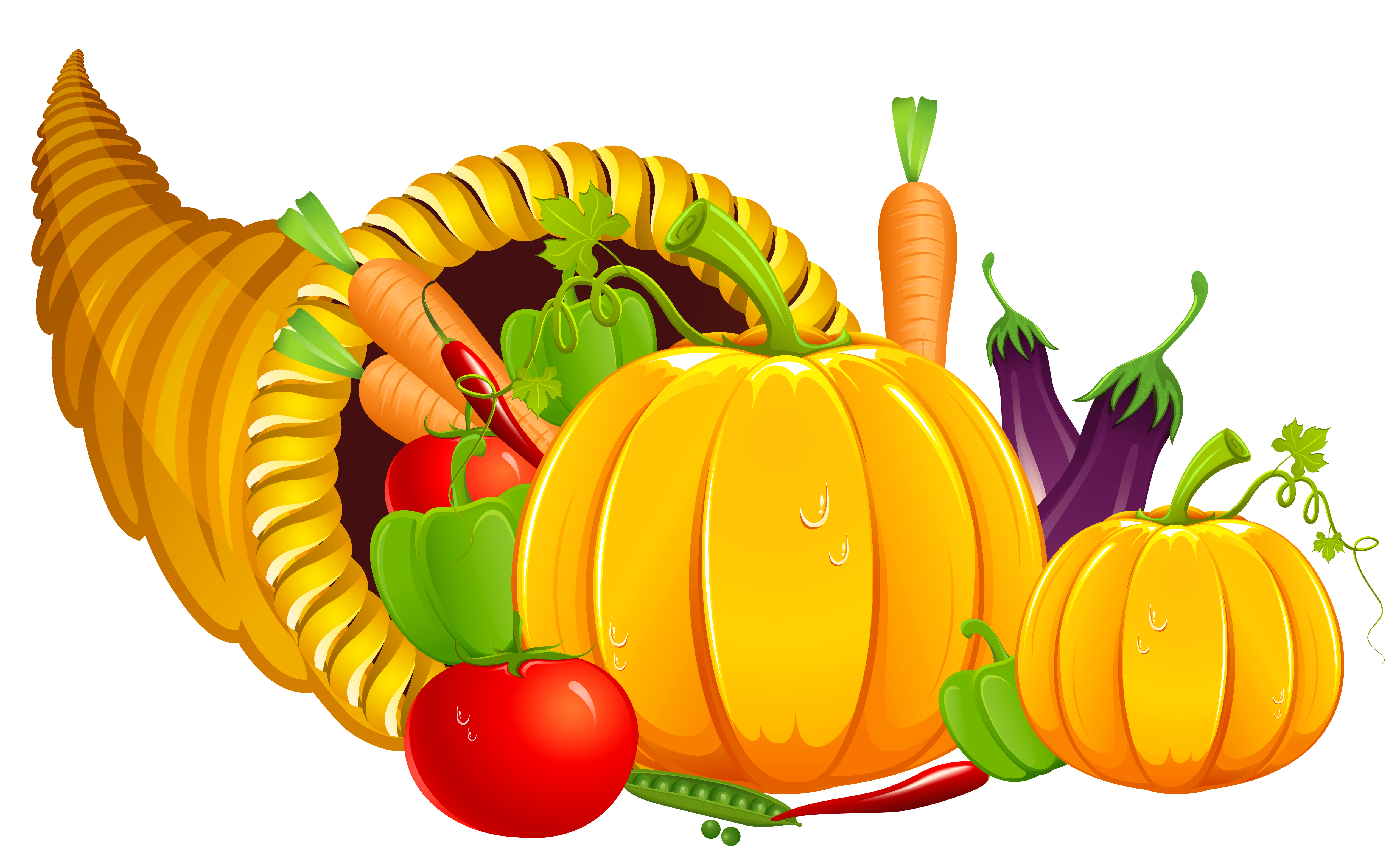 Happy thanksgiving espanol clipart graphic transparent stock Thanksgiving Cornucopia PNG Clipart | Gallery Yopriceville - High ... graphic transparent stock
