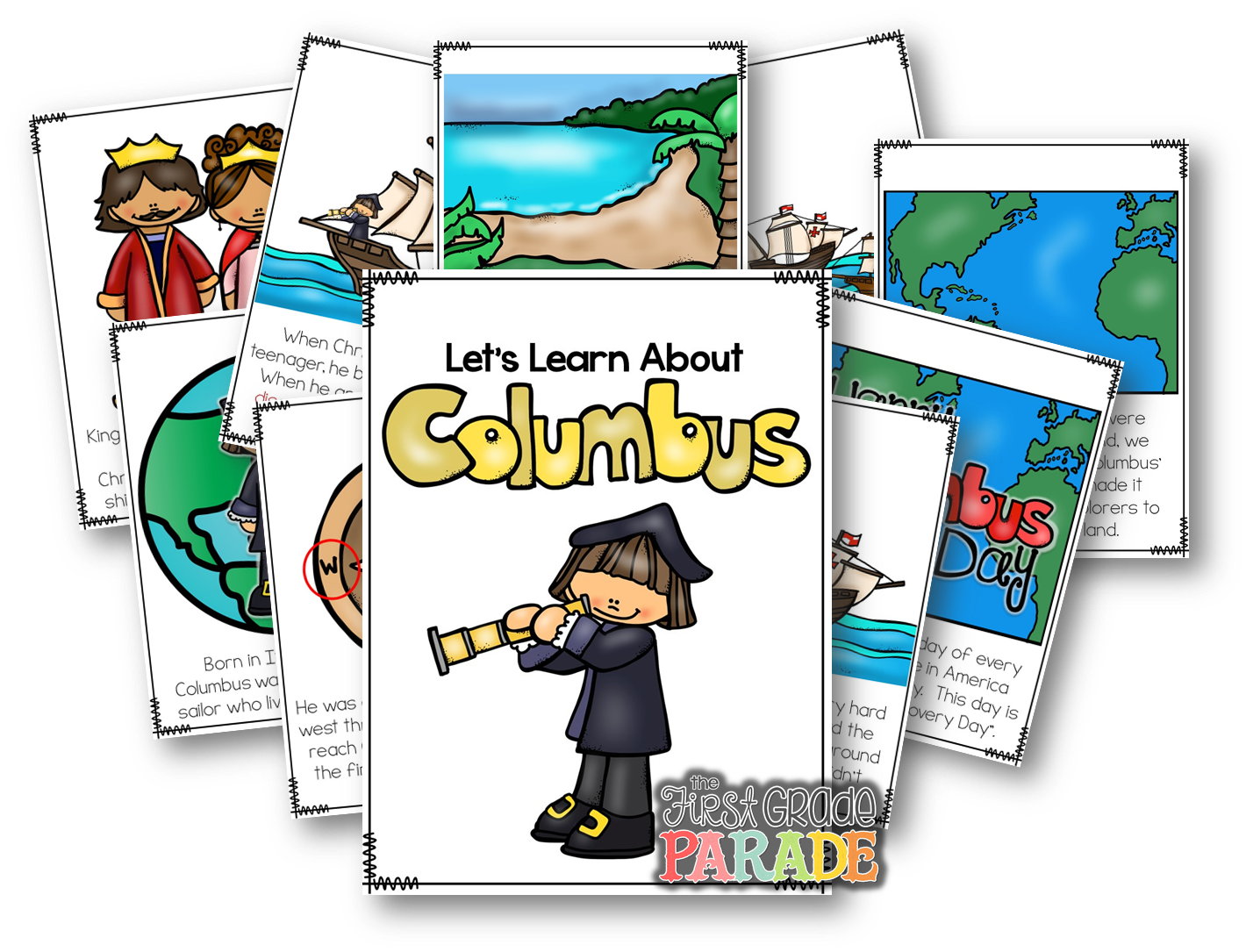 Clipart for thanksgiving vocabulary words clip royalty free stock Columbus Day in the Primary Clasroom - The First Grade Parade clip royalty free stock