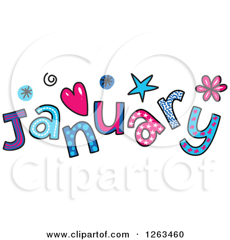Clipart for the month of january graphic transparent stock Clipart of Colorful Sketched Month of January Text - Royalty Free ... graphic transparent stock