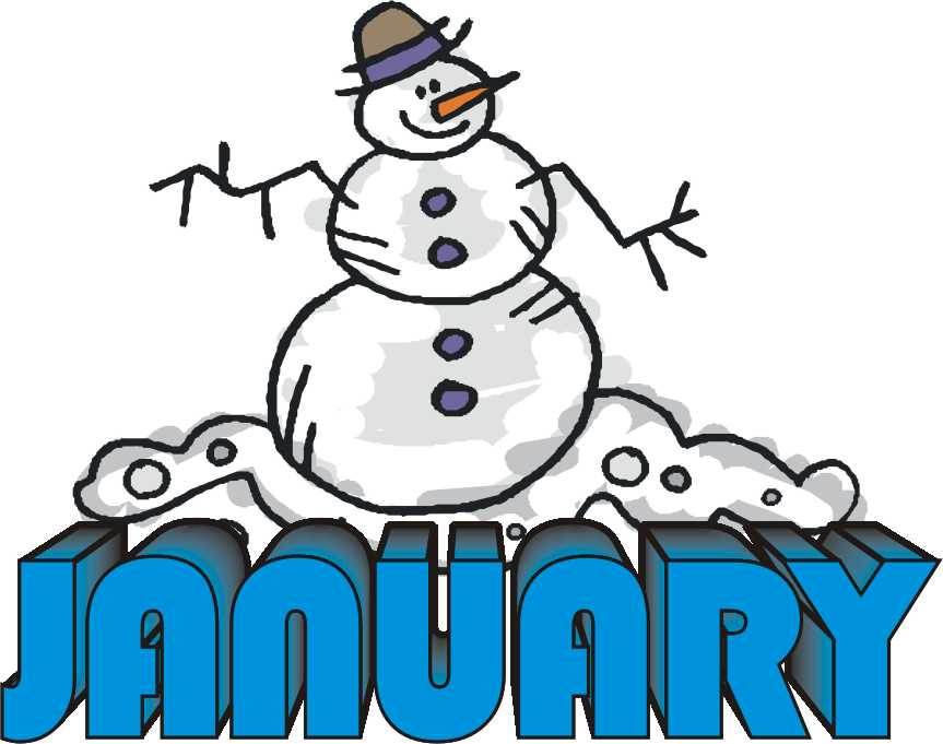 Clipart for the month of january graphic freeuse download Free clipart images for january - ClipartFest graphic freeuse download