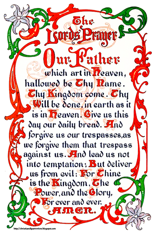 Clipart for thy kingdom come thy will be done clip art transparent download Our Father\