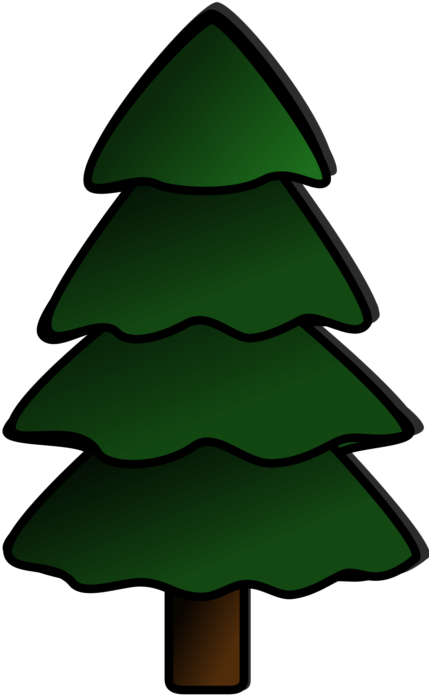 Evergreen tree clipart svg freeuse stock Clipart - Tree svg freeuse stock