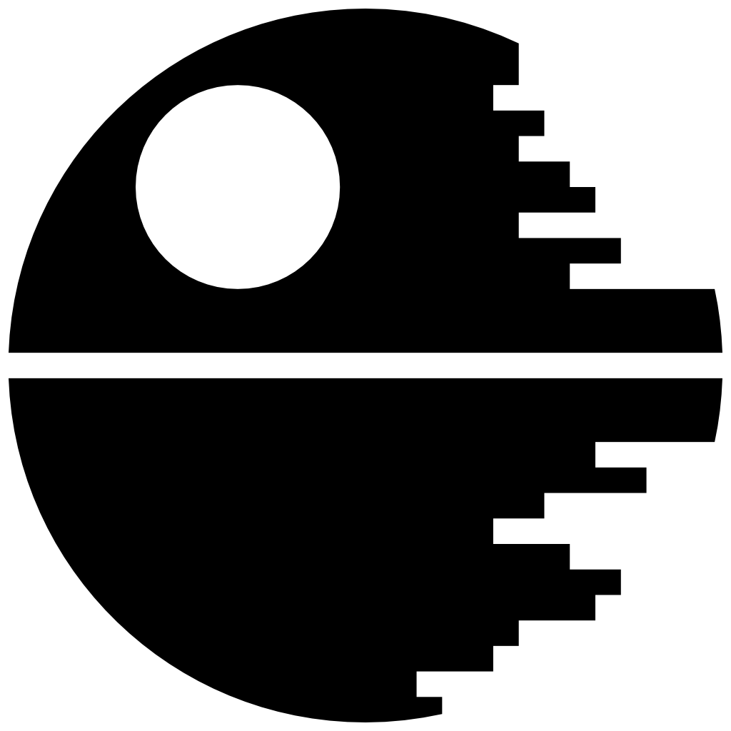 Star destroyer clipart clip art black and white stock Death Star Icon | Free Star Wars Iconset | Sensible World | L&T ... clip art black and white stock