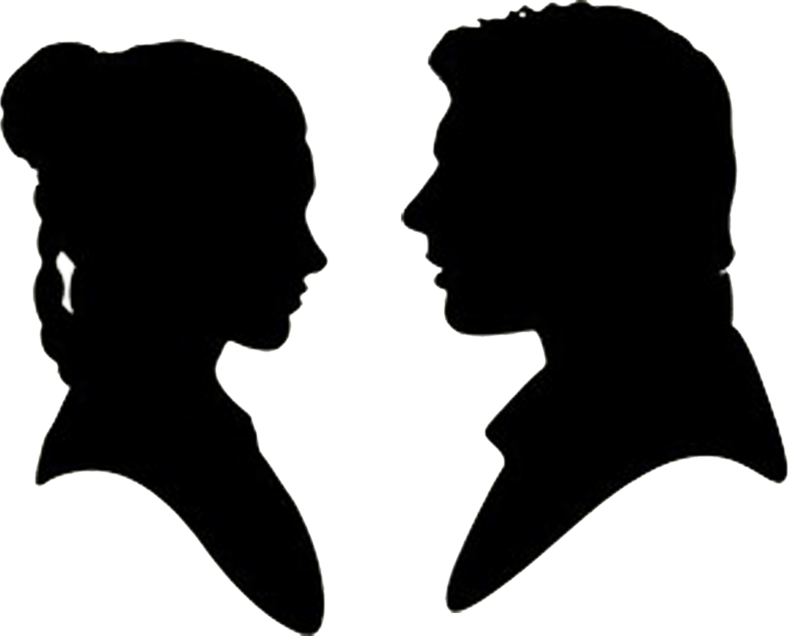 Star wars silhouettes clipart free picture royalty free Star Wars Han Solo and Princess Leia Silhouettes! | Doodlecraft ... picture royalty free