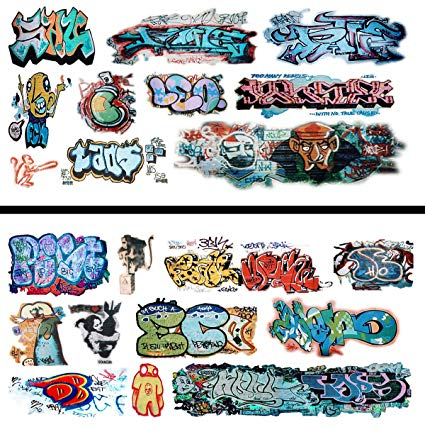 Clipart for waterslide decal free fine art svg free download HO Scale Graffiti Waterslide Decals 2-Pack #16 - Weather Your Box Cars,  Hoppers, & Gondolas! svg free download