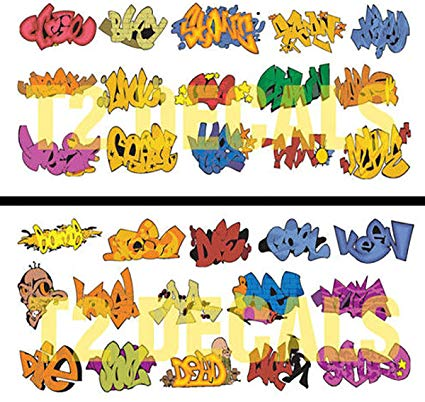 Clipart for waterslide decal free fine art png freeuse HO Scale Graffiti Waterslide Decals 2-Pack #4 - Weather Your Box Cars,  Hoppers, & Gondolas! png freeuse