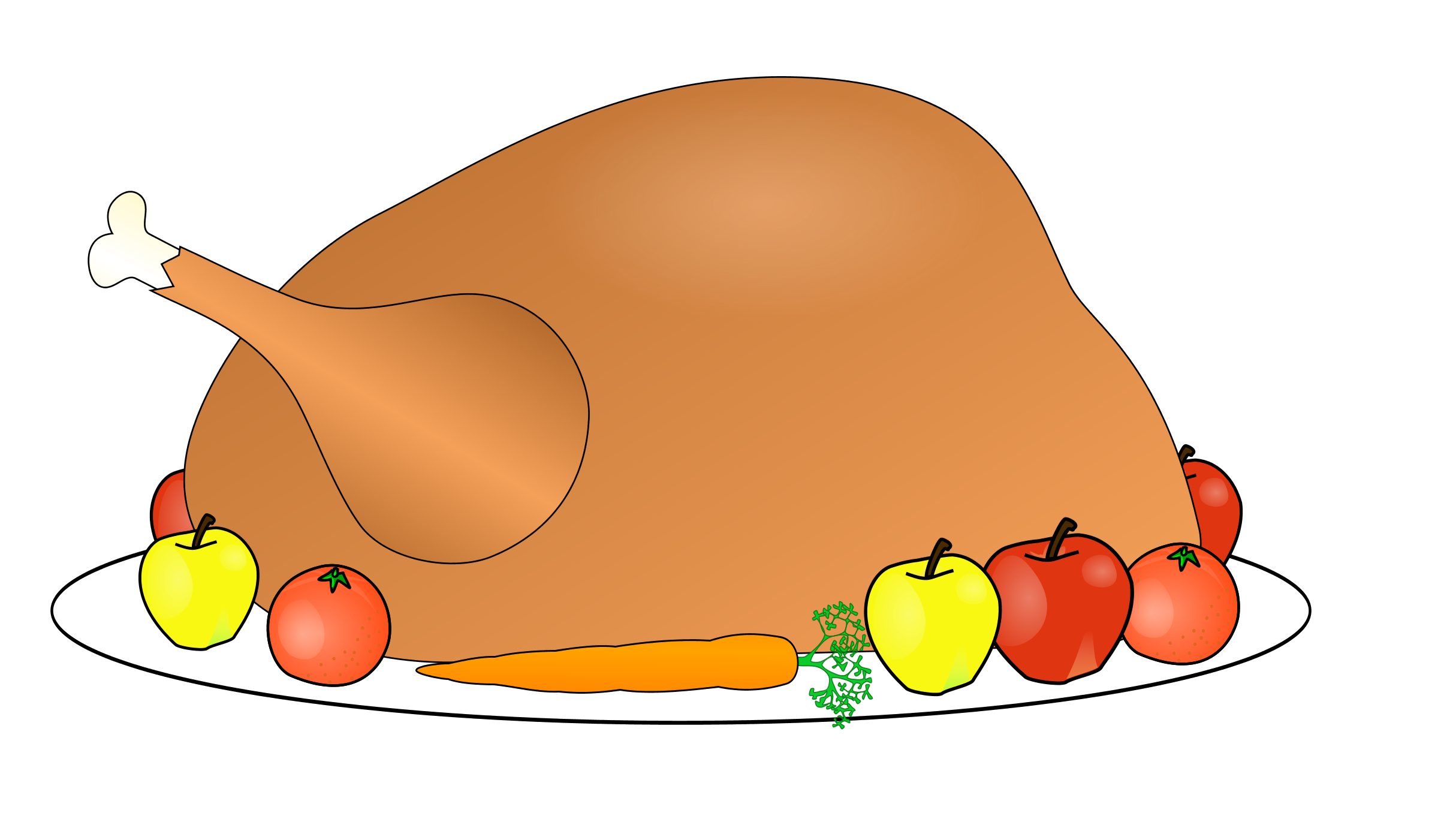 Cooked turkey clipart transparent free image transparent library Clipart for word hot food - ClipartFox image transparent library