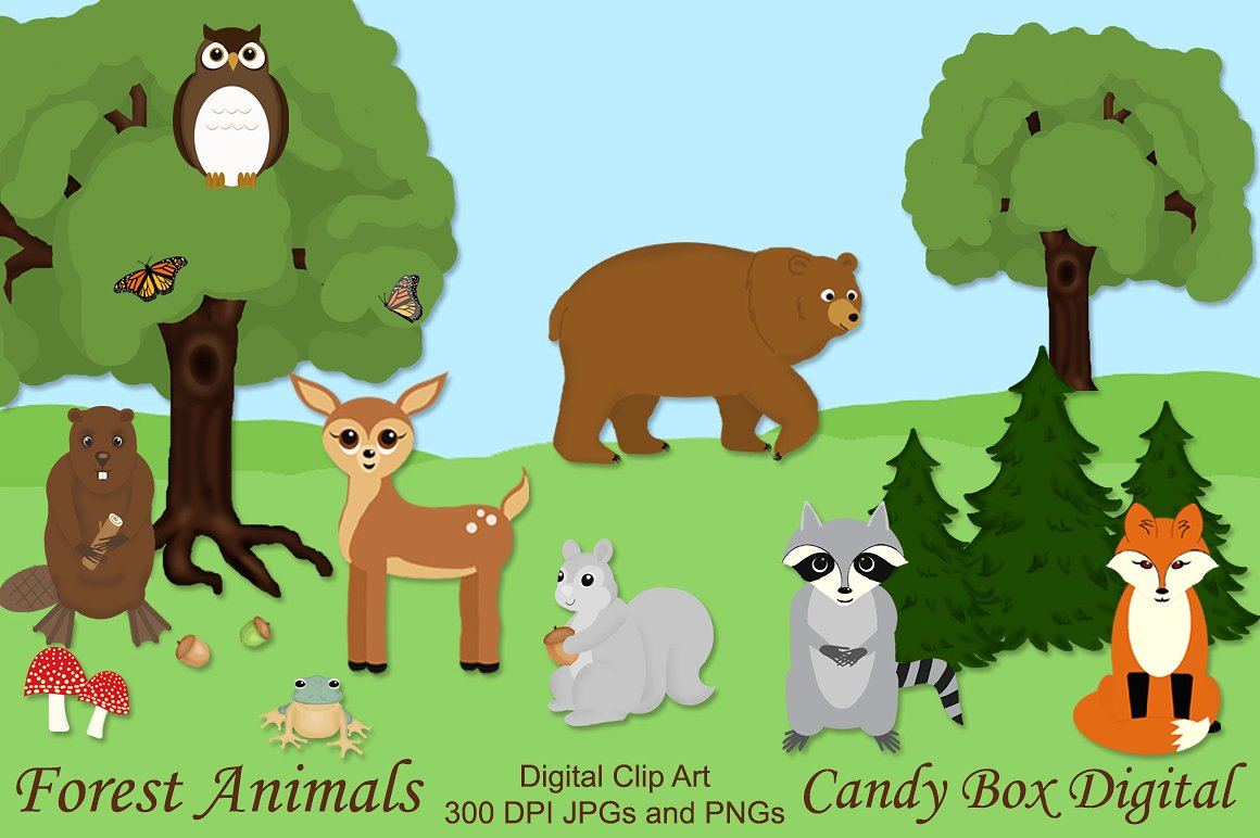 Clipart forest animals clipart download Free Forest Animal Cliparts, Download Free Clip Art, Free Clip Art ... clipart download