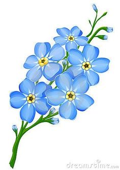 Clipart forget me not jpg library library 97+ Forget Me Not Clipart | ClipartLook jpg library library