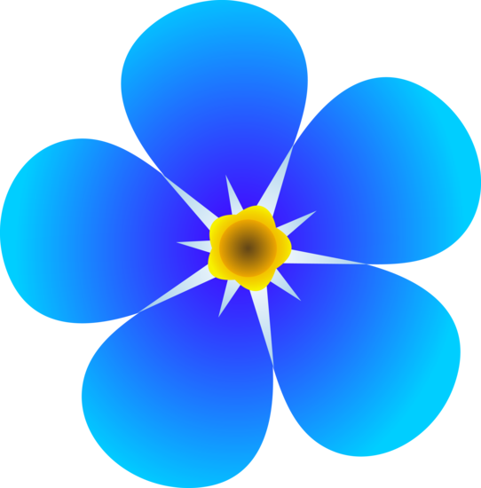 Clipart forget me not jpg stock Single Forget Me Not Flower - Free Clip Art jpg stock