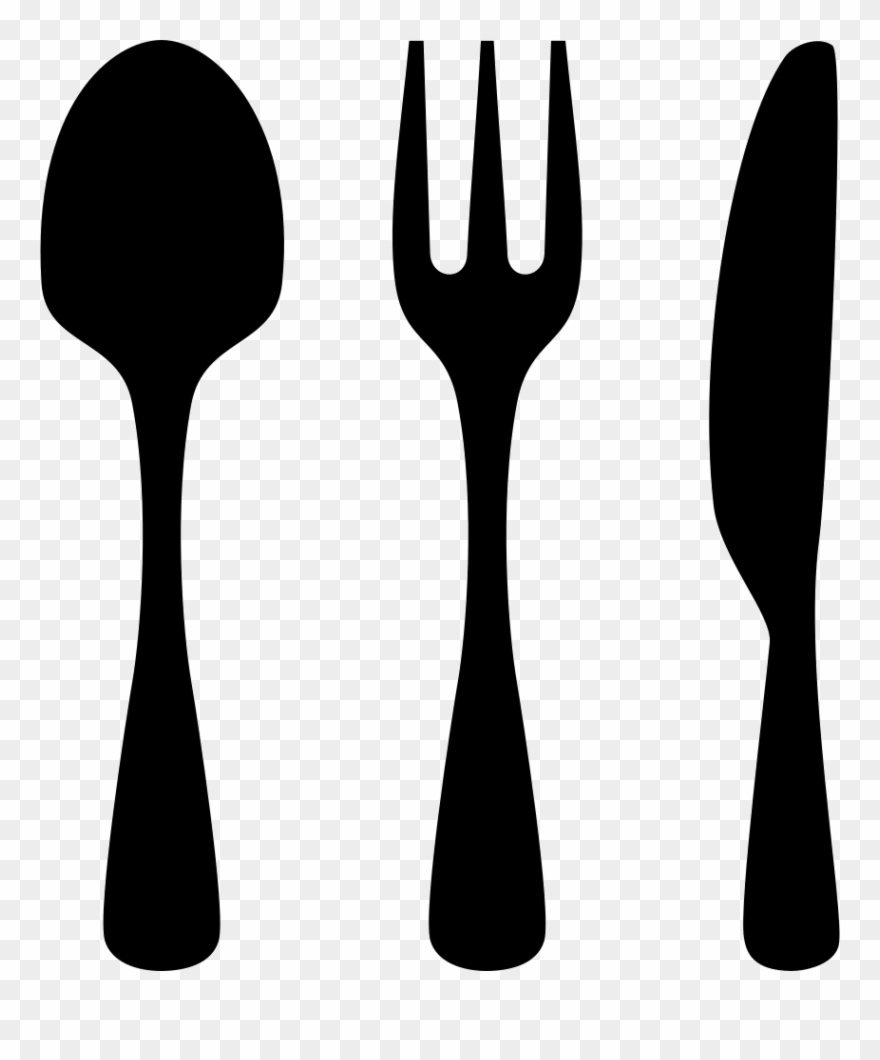 Knife and fork clipart clip art black and white download Download Knife And Fork Icon Clipart Knife Fork Knife - Knife And ... clip art black and white download