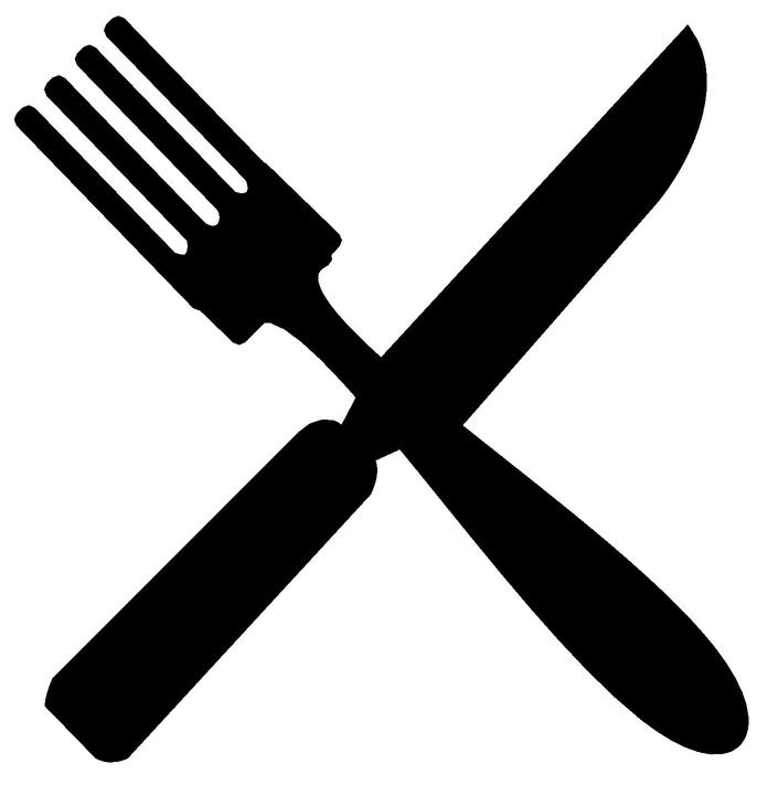 Clipart fork and knife image black and white library Free Fork And Knife, Download Free Clip Art, Free Clip Art on ... image black and white library