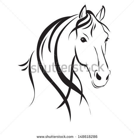 Clipart format svg picture library stock Horse Head clip art Free vector in Open office drawing svg ( .svg ... picture library stock