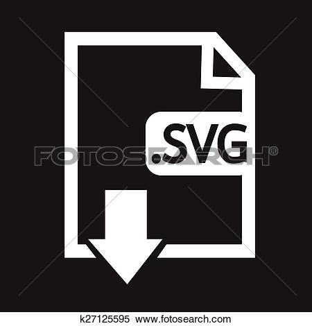 Clipart format svg clip black and white download Clipart of Image File type Format SVG icon k27125595 - Search Clip ... clip black and white download