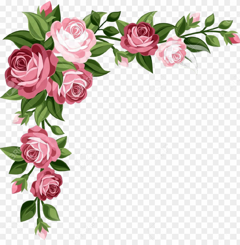 Clipart formato banner library library flores formato png clipart transparent - flower side border desi PNG ... banner library library