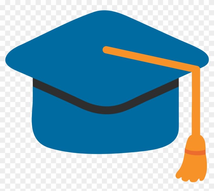 Clipart formatura black and white library Emoji Clipart Graduation - Chapeu De Formatura Azul, HD Png Download ... black and white library