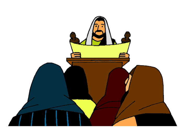 Jesus Preaches in Nazareth – Mission Bible Class image transparent stock
