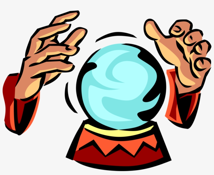 Clipart fortune vector transparent Vector Illustration Of Crystal Ball Gazing With Fortune - Crystal ... vector transparent