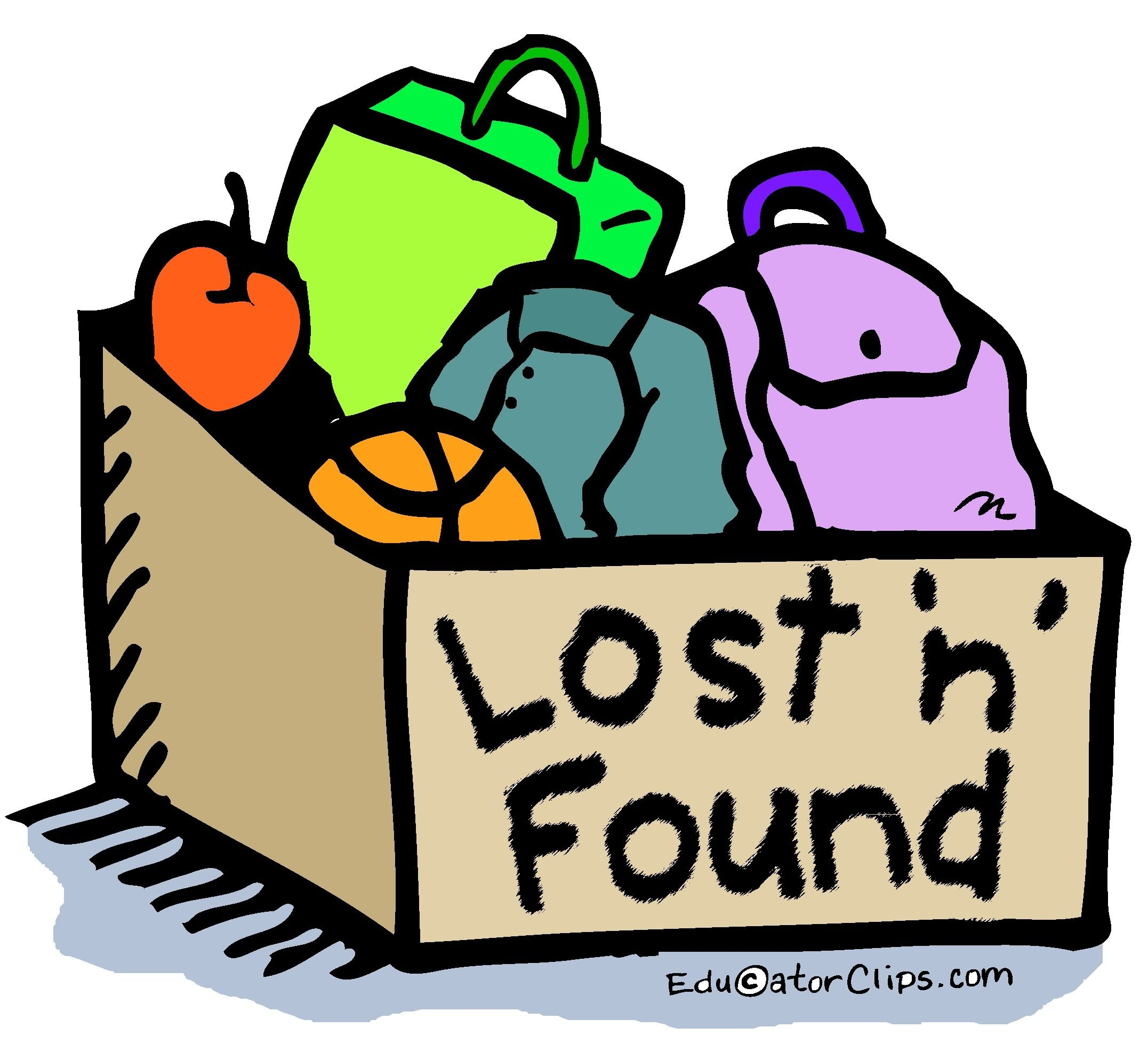Clipart found image transparent library Lost and Found Box Clip Art by Mark A. Hicks -- EducatorClips.com ... image transparent library