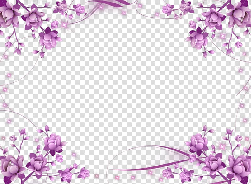Clipart frame hd banner freeuse stock Wedding invitation frame Flower Purple , Purple Border Frame HD ... banner freeuse stock