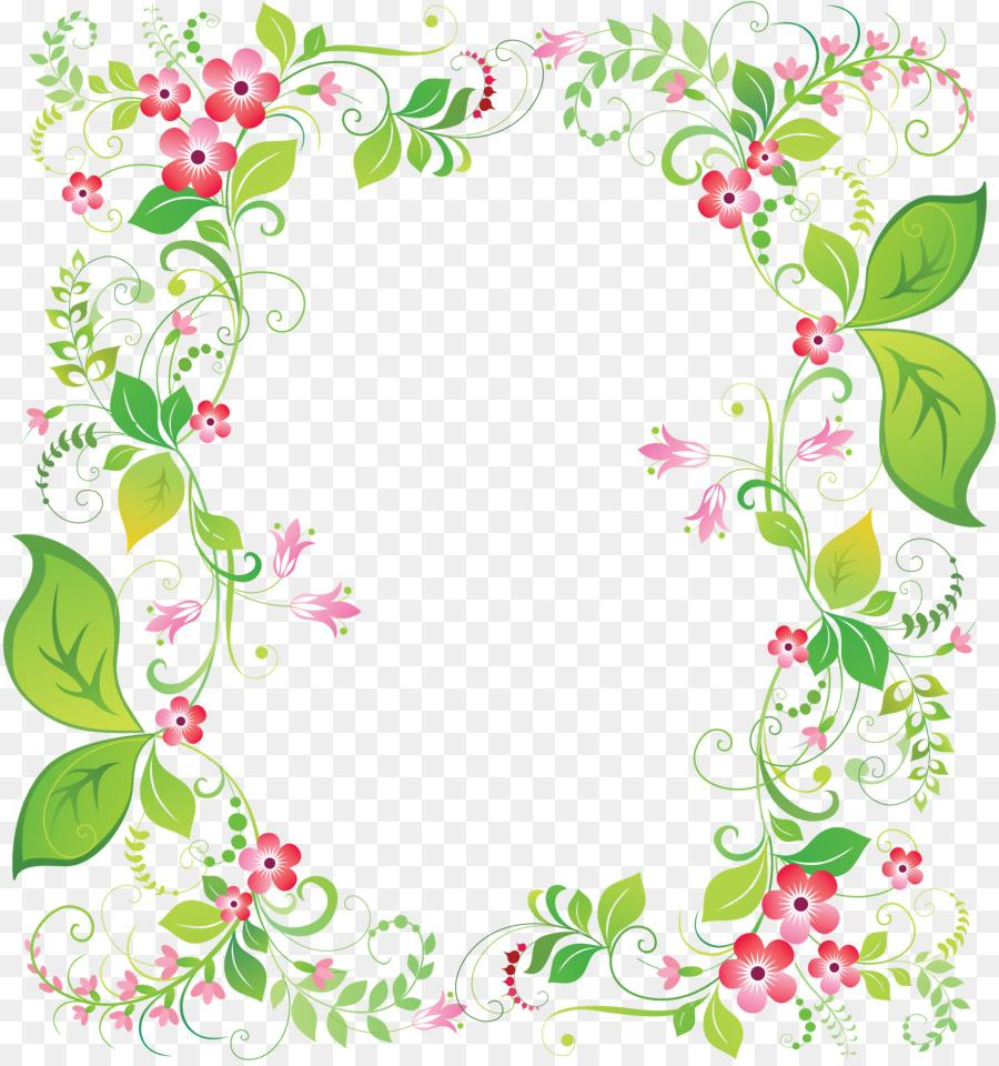 Flowers frame clipart vector free download Best HD Flower Frame Clip Art Image » Free Vector Art, Images ... vector free download
