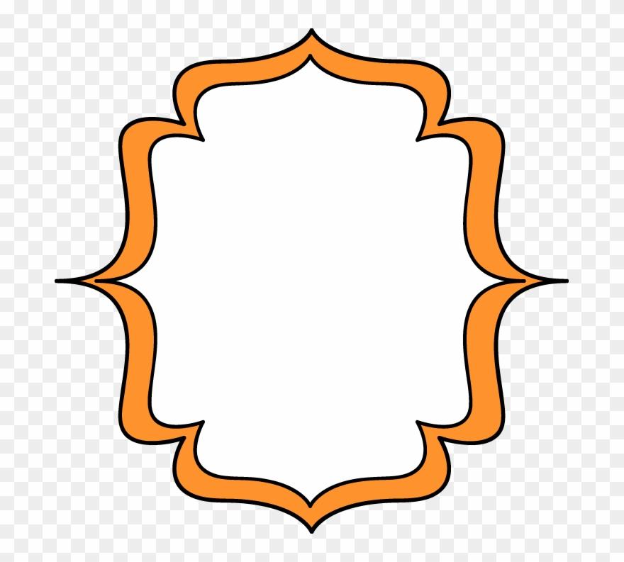 Clipart frame images vector royalty free stock Orange Double Bracket Frame - Gold Glitter Bracket Frame Png Clipart ... vector royalty free stock
