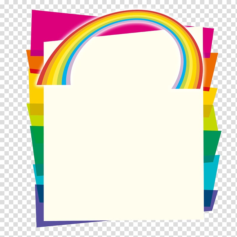Clipart frames and borders color to-from image library stock Assorted-color paper bag frame illustration, School Color Brochure ... image library stock