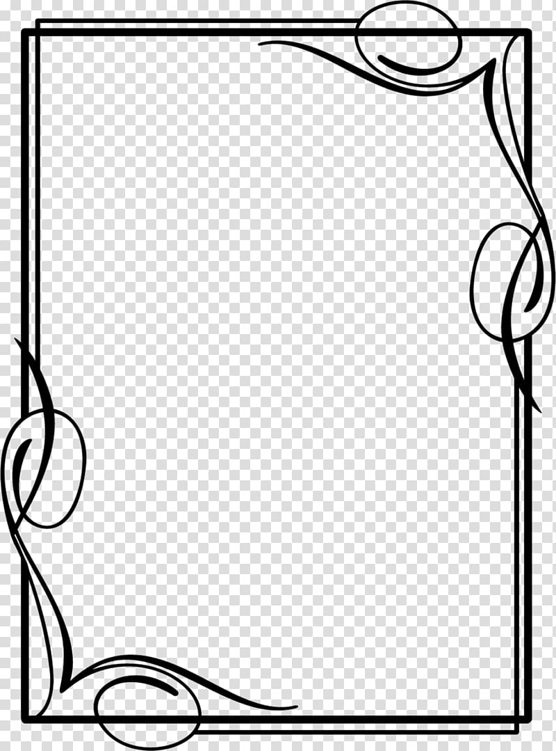 Black and frames drawing. Frame borders clipart