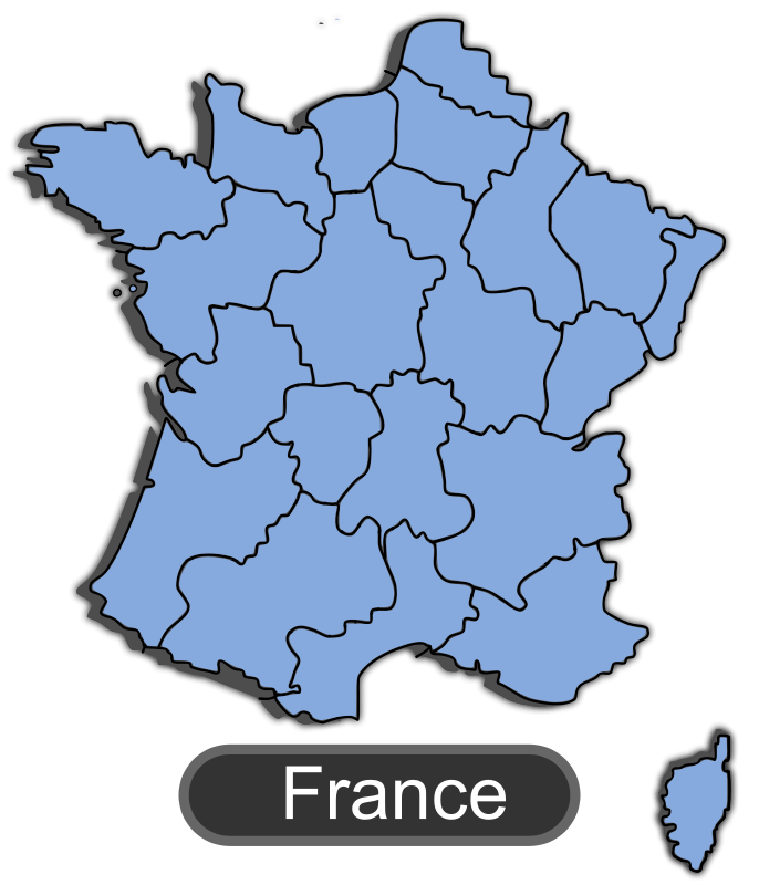 Clipart france map banner library download Free Clipart: Map of France | maxime8 banner library download