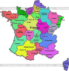 Clipart france map svg black and white stock France map - royalty-free vector clipart svg black and white stock