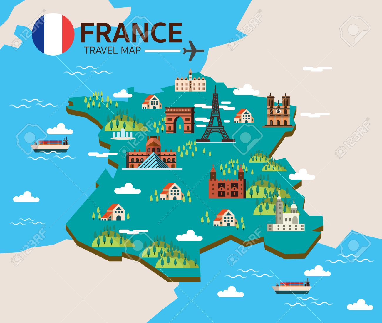 Clipart france map image royalty free download Collection of 14 free France clipart map aztec clipart vintage ... image royalty free download