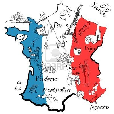 Clipart france map clipart freeuse Pin by Jennifer Smith on Dessins | France map, Map, France clipart freeuse
