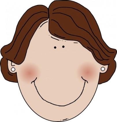 Clipart frau vector black and white Brown Eyes Clipart | Free Download Clip Art | Free Clip Art | on ... vector black and white