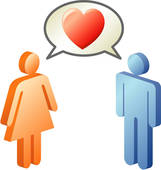Clipart frau mann. Of woman figure heart